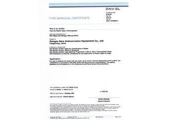 DNV船级社证书
